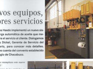 Nota en magazine de automotriz MERCEDES BENZ